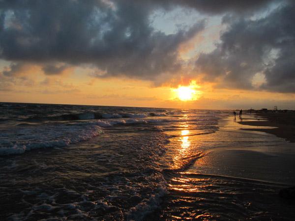 Вечерний пляж. Витязево